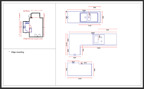 Typical kitchen plan provided